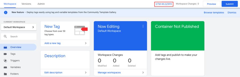 Setja Google Tag Manager upp á heimasíðu