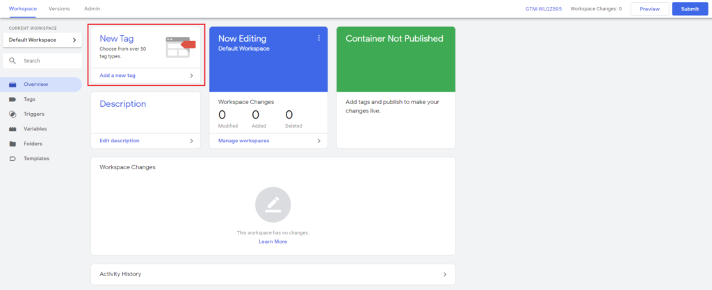 Setja upp Google Analytics